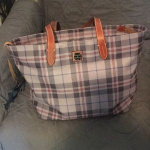 Dooney and Bourke Gray plaid tote